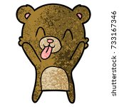 rude cartoon bear | Shutterstock .eps vector #733167346