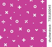 math symbol seamless pattern... | Shutterstock .eps vector #733183045