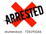 arrested sticker. authentic... | Shutterstock .eps vector #733193266