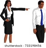 vector illustration of angry... | Shutterstock .eps vector #733198456