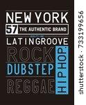 new york music graphic tee
