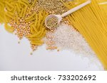 set of products with complex... | Shutterstock . vector #733202692