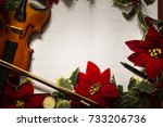 violin and open music... | Shutterstock . vector #733206736