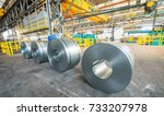 metal coils in industrial... | Shutterstock . vector #733207978