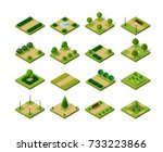 set of isometric urban parks | Shutterstock . vector #733223866
