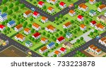 country village district | Shutterstock . vector #733223878