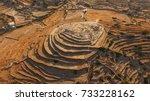 aerial bird's eye photo of...   Shutterstock . vector #733228162