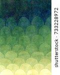 watercolor scales gradient...   Shutterstock . vector #733228972