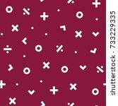 math symbol seamless pattern... | Shutterstock .eps vector #733229335