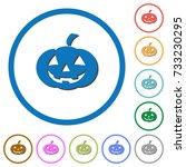 halloween pumpkin flat color... | Shutterstock .eps vector #733230295