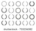 collection of different black... | Shutterstock .eps vector #733236382