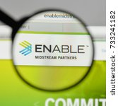 Small photo of Milan, Italy - August 10, 2017: Enable Midstream Partners logo on the website homepage.