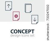 vector illustration of 4 paper...