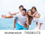 beach. | Shutterstock . vector #733281172