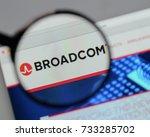 milan  italy   august 10  2017  ... | Shutterstock . vector #733285702
