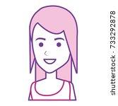 beautiful woman avatar character | Shutterstock .eps vector #733292878