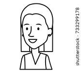 beautiful woman avatar character | Shutterstock .eps vector #733299178