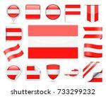 austria flag set   vector... | Shutterstock .eps vector #733299232