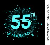 55th anniversary logo with... | Shutterstock .eps vector #733299766