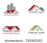 property logo template vector... | Shutterstock .eps vector #733302352
