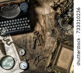 Antique Typewriter And Vintage...