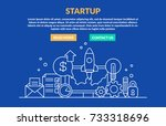 startup concept for web site.... | Shutterstock .eps vector #733318696