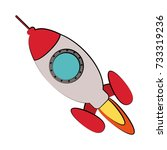 flying rocket icon image  | Shutterstock .eps vector #733319236