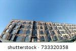 classic brick buildings in... | Shutterstock . vector #733320358