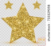 gold star vector banner. gold... | Shutterstock .eps vector #733329058
