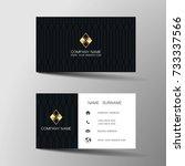 modern business card template... | Shutterstock .eps vector #733337566