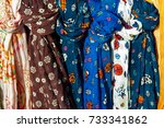 cotton scarves with nice fancy  ... | Shutterstock . vector #733341862