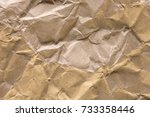 wrinkled brown paper abstract... | Shutterstock . vector #733358446