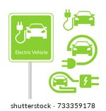 road sign template of car... | Shutterstock .eps vector #733359178