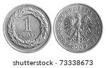 Polish Zloty Coins Isolated...