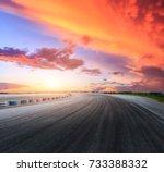 dark asphalt road circuit and... | Shutterstock . vector #733388332