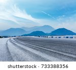 asphalt road circuit and... | Shutterstock . vector #733388356