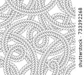 black and white tangled braids... | Shutterstock .eps vector #733392268