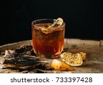 smoked old fashioned cocktail... | Shutterstock . vector #733397428