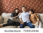 Small photo of Family Bonding Casual Affection Relationship