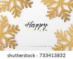 merry christmas and happy new... | Shutterstock .eps vector #733413832