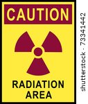 safety sign for radiation area | Shutterstock . vector #73341442