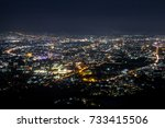 panorama of the city from the... | Shutterstock . vector #733415506
