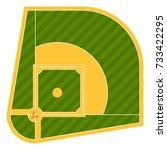 Cartoon Baseball Field Batting...