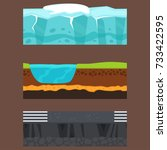 illustration of cross section... | Shutterstock .eps vector #733422595