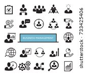 business management icons | Shutterstock .eps vector #733425406