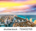 causeway  river and skyline of... | Shutterstock . vector #733432705