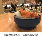 Salmon Sashimi Set Japanese...