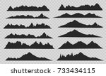 mountains silhouettes on the... | Shutterstock .eps vector #733434115