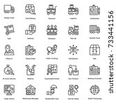 logistic delivery vector icons...