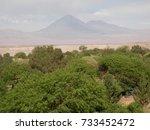 view with licancabur volcano...   Shutterstock . vector #733452472